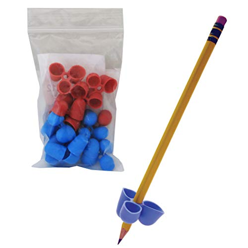 The Pencil Grip Writing CLAW for Pencils and Utensils, 12 Count Blue/Red, Medium Size (TPG-21212)