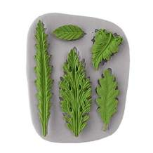 Koogel Tree Leaf Silicone Mold, Resin Mold Cake Fondant Silicone Mold Fondant Clay Mould Leaf Shape DIY Decorating Tool