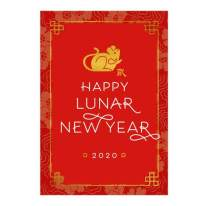 Hallmark Business Chinese New Year Cards for Employees (2020 Lunar New Year of Rat) (Pack of 25 Greeting Cards)