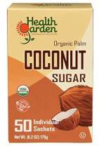 Health Garden Coconut Sugar - Gluten Free - Organic - Non GMO - Kosher - Keto Friendly (50 Packets)