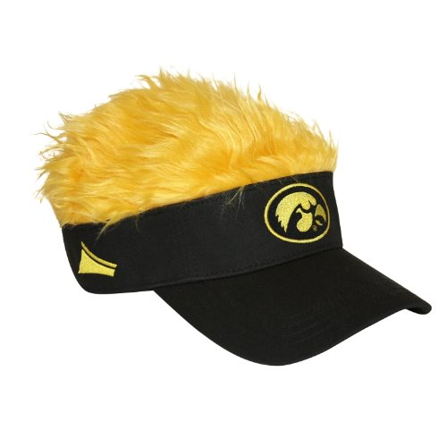 "Officially Licensed NCAA ""Flair Hair"" Adjustable Visor, One Size, Multi Color"