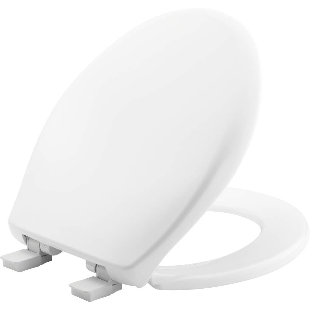 BEMIS 200E4 000 Affinity Toilet Seat will Slow Close, Never Loosen and Provide the Perfect Fit, ROUND, Plastic, White