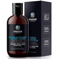 Eczema Body Wash & Cream 2in1 – 100% Natural pH Balancing Acids and Olive Oil Shower Cream. No Sulfates/Parabens, Deep Moisturizing Treatment for Very Dry &; Itchy Skin. Best for Relieving Psoriasis