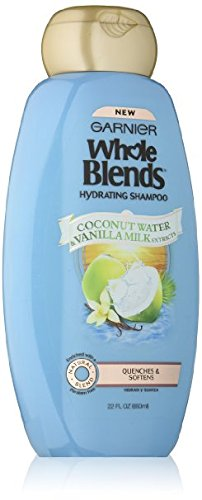 Garnier Whole Blends Shampoo with Coconut Water & Vanilla Milk Extracts, 22 Fl Oz (Pack of 4)