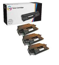 LD Remanufactured Toner Cartridge Replacement for HP 27X C4127X High Yield (Black, 3-Pack)