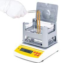 CGOLDENWALL AU-1200K Digital Electronic Gold Purity Tester Analyzer Precious Metal Purity Analyser Meter Measuring Machine Gold Karat Testing Machine Gold Content Gold Density