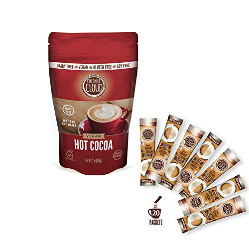Coconut Cloud: Dairy-Free Instant Hot Cocoa Mix & Salted Caramel Creamer Sticks   Women Owned, Made in Colorado from Premium Coconut Milk Powder (Vegan, Non-GMO, Gluten Free)