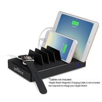 gofanco USB Charging Station 7 Port 65W, Desktop Charging Stand Organizer for Phones, Tablets and Wearable Devices, up to 2.4A – Black (USBCharge7P-B2)