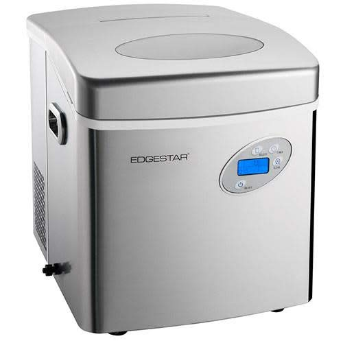 EdgeStar IP250SS Large Capacity Portable Countertop Stainless Steel Ice Maker