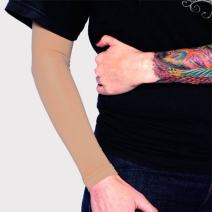 Tat2X Ink Armor Premium Full Arm Tattoo Cover Up Sleeve - No Slip Gripper - U.S. Made - Suntan - XSS (one Sleeve)