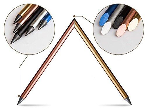 Designer Automatic Pencil, Everlasting Pencil, Metallic Pencil, Ink-Less Pen, in-erasable Pen, Creative Design (Blue)