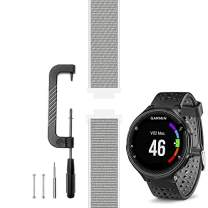 C2D JOY Compatible with Garmin Forerunner 235 Band Replacement (Pins and Pin Removal Tool) Sport Mesh Strap Also for FR220/230/620/630/735XT Accessories Nylon Weave Watchband - 13#, L/6.0-9.2 in.