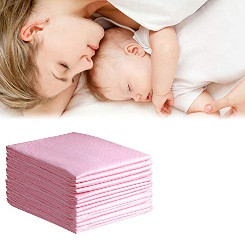OBloved Baby Disposable Changing Pad, 20Pack Incontinence Bed Pads, Soft Adult Child Pets Large Underpads, Portable Diaper Changing Table & Mat, Breathable Leak-Proof High Absorbent, 17x24inch