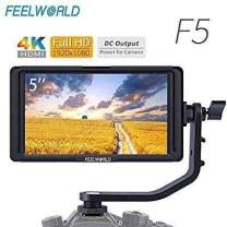 FEELWORLD F5 5 Inch Camera Field Monitor 1920x1080 DSLR Full HD 4K IPS Video Peaking Focus HDMI 8.4V DC Input Output Include Tilt Arm (Standard)