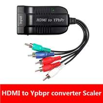 Female HDMI to Male Scaler YPbPr Converter, HDMI to Video Ypbpr Adapter HDMI to Scaler Component Converter with YPBPR Cable Power Adapter Compatible for Apple TV, PS3, Xbox, Fire Stick, DVD Players