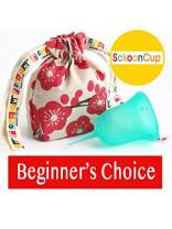 SckoonCup Beginner Choice - Made in USA - FDA Approved - Heavy Flow - Organic Cotton Pouch - Menstrual Cup - Harmony Large