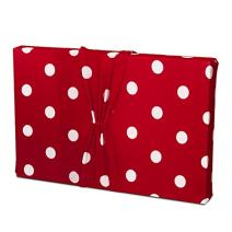Valentine's Day Gift Wrap - (May BE Used AS 2 Gift Bags!) Stretchy Fabric, Reusable and Eco Friendly - Cherry Red and White Polka Dots (Large) Birthday Wrapping or Great for All Occasions