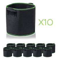 Garden4Ever 10-Pack 2 Gallon Grow Bags Heavy Duty Container Thickened Nonwoven Fabric Plant Pots with Handles