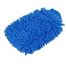 Premium car wash Microfiber Chenille mitt. Super auto Absorbent. Ultrafine Sponge Fiber Glove. Professional Cleaning at Home, Kitchen (Blue)