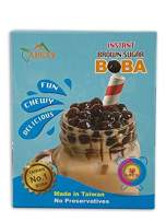 INSTANT Brown Sugar Tapioca Pearls / Boba 12.69oz ( 6 Individual Packets ) By APEXY (Pack of 1 Box)