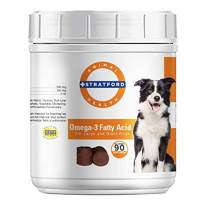 Stratford Pharmaceuticals Omega 3 Fatty Acid Soft Chew Max Strength - Dog Omega 3 Supplement - Soft Chew Treats with Fish Oil for Dogs - Large and Giant Dogs - 90 Soft Chews