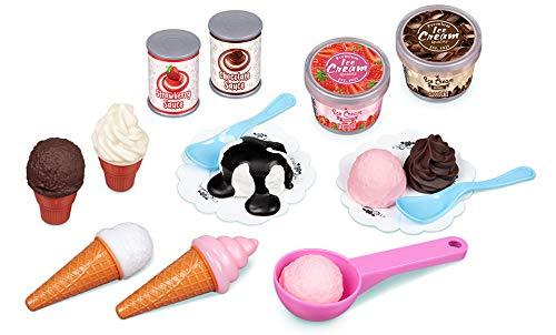 World Tech Toys Ice Cream Time 23-Piece Food Pretend Play Playset