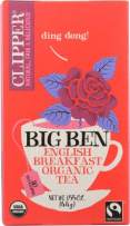 Clipper Organic Breakfast Tea, Big Ben, 20 Count, 6 Boxes