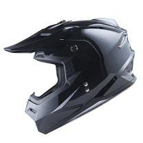 1Storm Adult Motocross Helmet BMX MX ATV Dirt Bike Helmet Racing Style HF801; Glossy Black; L (57-58 cm,22.4/22.8 Inch)