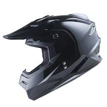 1Storm Adult Motocross Helmet BMX MX ATV Dirt Bike Helmet Racing Style HF801; Glossy Black