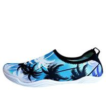 Kids Water Swim Shoes Barefoot Aqua Socks Shoes Quick Dry Non-Slip Baby Boys & Girls (Whale-Light Blue-2, 16/17)