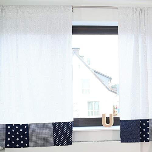 """100% Cotton Nursery Curtains by ULLENBOOM 