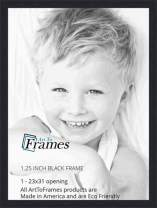 ArtToFrames 23x31 inch Black Picture Frame, 2WOMFRBW72079-23x31