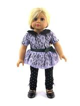 Lavender and Green Polka Dots and Lace Pant Set | 18 Inch American Girl Doll Clothes
