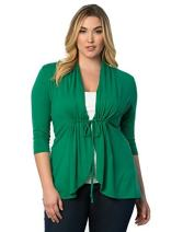 Kiyonna Women's Plus Size Sunset Stroll Bellini 2X Promise Green