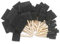 Katzco Poly Foam Brushes with Wooden Handles - 25 Pack for Any Professional Paint Job, Oil Stain, Watercolor, Art & Craft Project - Use for Professional and Amateur Projects