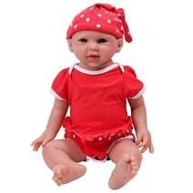 IVITA Full Body Silicone Reborn Baby Doll Realistic Newborn Baby Doll Twins Lifelike Blue Eyes Boy and Girl for Kids Doll Collector, 19 inch, 3.69 kg, Girl
