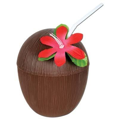 Plastic Coconut Cup 16 Ozs Party Accessory Pkg/6