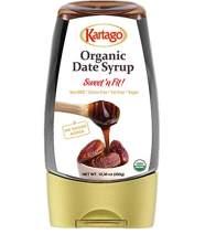 Date Syrup - Organic Date Syrup - Vegan, Kosher, Gluten Free, No Added Sugar - Healthy Natural Sweetener, from Kartago - 12.35 oz Bottle (1-Pack)