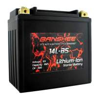 Banshee LIFEPO4 Battery Replaces BikeMaster DLFP14L-BS Lithium-Ion Motorcycle Battery