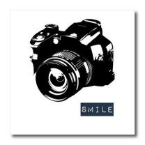 3dRose ht_152056_3 Smile Camera Photographer Art Iron on Heat Transfer, 10 by 10-Inch, for White Material
