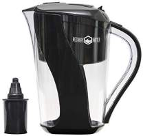 Reshape Water 10-Cup Pitcher with Long-Lasting Anti-Oxidizing Cost Effective Filter That Increases Ph, Removes Chlorine and Heavy Metals, and Improves Taste. Holds 3.5 Liters.