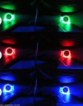 2pc LED Speaker Rings for JL Audio Marine M880 M6 880X-C 880X-S - NO Drilling Required - Ready to Install - DRILLED for Screw Holes