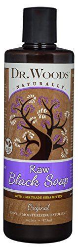 Dr. Woods Raw Black Moisturizing Liquid Soap with Organic Shea Butter, 16 Ounce