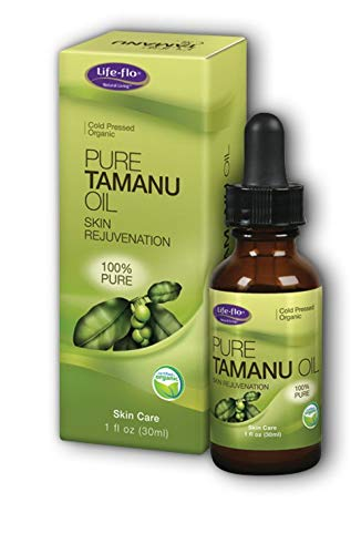 Life-flo Pure Organic Tamanu Oil   Skin Rejuvenator and Soothing Treatment for Skin, Scalp, Scars and Stretch Marks, 1oz