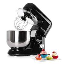 KLARSTEIN Bella Nera • Tilt-Head Stand Mixer • Dough Hook, Flat Beater, Wire Whip • 650 Watts • 1.1 HP • 5.5 qt Stainless Steel Bowl • Planetary Mixing Action • 6 Speeds • Multifunctional • Black