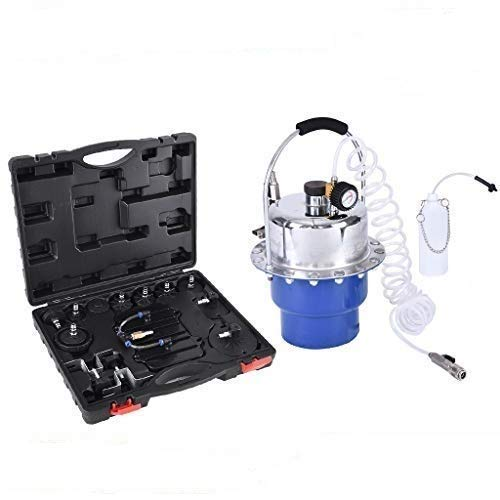 visdron Pneumatic Air Pressure Bleeder Tool Kit, Universal Professional Power Brake Bleeder Kit, Portable Brake and Clutch Bleeder Valve System Set, for Vehicles with an ABS System (Blue)