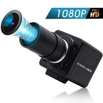5-50mm Varifocal Lens USB Camera High Speed 100FPS Webcam,2MP 1080P Webcam with CMOS OV2710 Sensor for Android,Windows,Mac-OS,Support OTG,UVC Webcam for Conference,Focus Adjustable USB Cameras