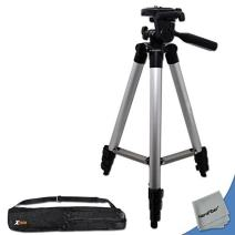 PRO 60 inch Tripod with 3 way Pan-Head, Bubble level indicator, 3 Section Aluminum alloy lock in Telescopic legs and Extendable Center Column for Canon DSLR and Digital Cameras + Convenient Tripod Travel Bag