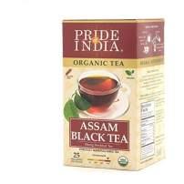 Pride Of India Organic Indian Assam Black Tea, 25 Tea Bags