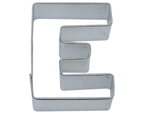 R&M Letter E Cookie Cutter in Durable, Economical, Tinplated Steel